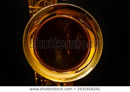 Szaxofon fényes színpad illusztráció zene fény Stock fotó © colematt