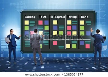 Businessman in agile methods concept Stock fotó © Elnur