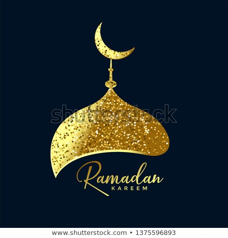 mosque top made with golden glitter ramadan background Stock photo © SArts