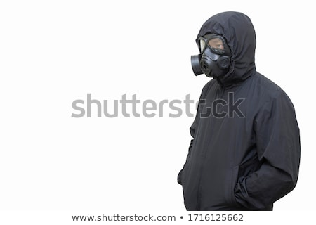 Gas masked men in demolished environment Stock photo © ra2studio