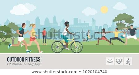 férfi · emberek · sportos · tornaterem · tornaterem · testépítés - stock fotó © robuart