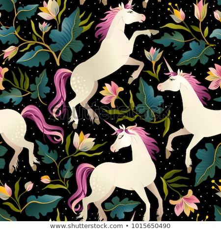 vector unicorn seamless pattern Stock photo © VetraKori
