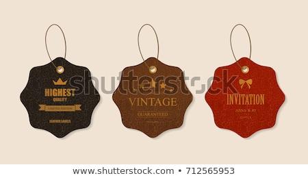 couro · oferecer · etiqueta · vetor · projeto · textura - foto stock © limbi007