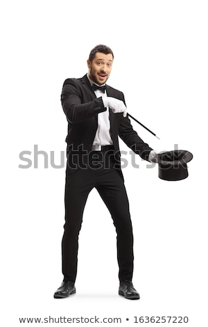 Ilusionista mão truque branco luva Foto stock © ra2studio
