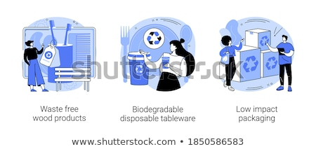 Niski opakowań recyklingu pojemnik zrównoważony Zdjęcia stock © RAStudio