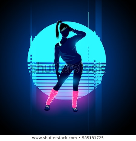 partying women in nightclub lady dancing vector stock photo © robuart