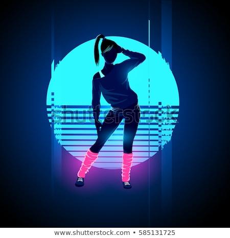 Bulizás nők éjszakai klub hölgy tánc vektor Stock fotó © robuart