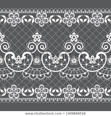Bezszwowy koronki wektora wzór retro stylu Zdjęcia stock © RedKoala