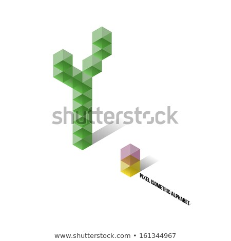Cube grid Letter Y 3D Stock photo © djmilic