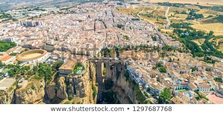 Huizen rand canyon Spanje stad Stockfoto © borisb17