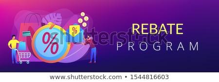 Rebate program concept banner header Stock photo © RAStudio