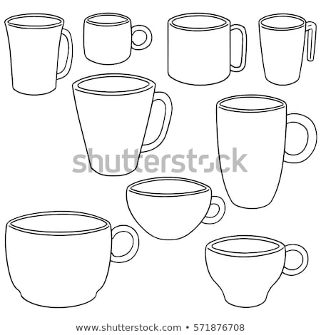 plastic coffee cups in line stock photo © lichtmeister