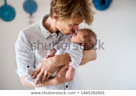Feliz padre pequeño bebé nino casa Foto stock © dolgachov