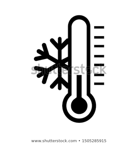 Thermometer sneeuwvlok symbool illustratie ontwerp kunst Stockfoto © bluering