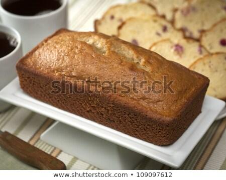 Brot Laib Holz Essen Gesundheit Stock foto © grafvision