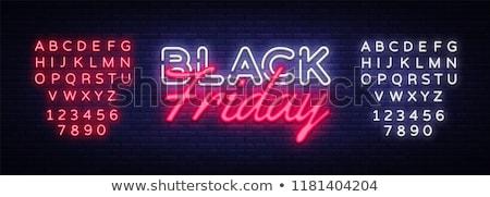 Black friday neon ışık dizayn alışveriş siyah Stok fotoğraf © SArts