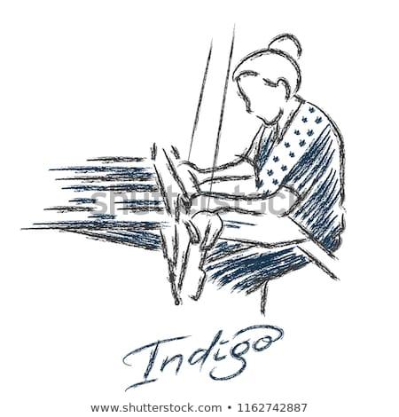 Hands Weaving Illustration Stock photo © lenm