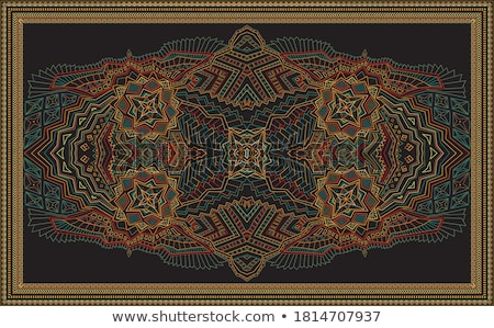 Tribal art Bandana print. Ethnic geometric print. Stock photo © sanyal