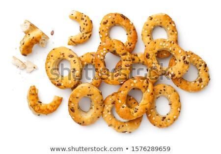 Mini Bagel Snacks With Provencal Herbs Stock photo © Bozena_Fulawka