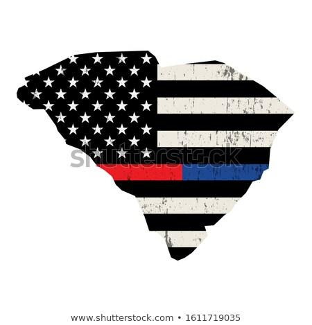 South Carolina bombeiro apoiar bandeira ilustração bandeira americana Foto stock © enterlinedesign