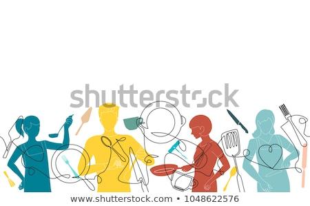 Cooking classes template Stock photo © jossdiim