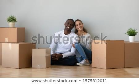 Affettuoso spostare nuova casa relax piano Foto d'archivio © vkstudio