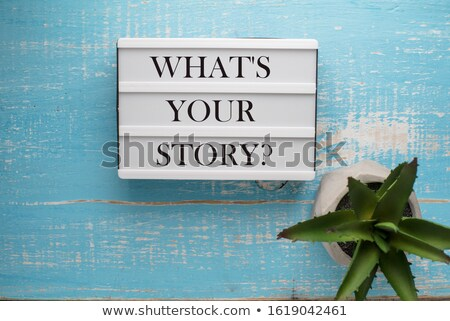 What Is Your Story Blue Paper Concept Stock photo © ivelin