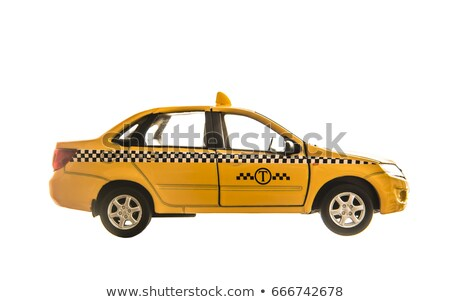 Araba yalıtılmış beyaz taksi sedan iki Stok fotoğraf © robuart