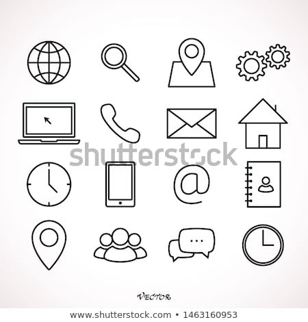 contact us 16 flat icons Stock photo © ayaxmr