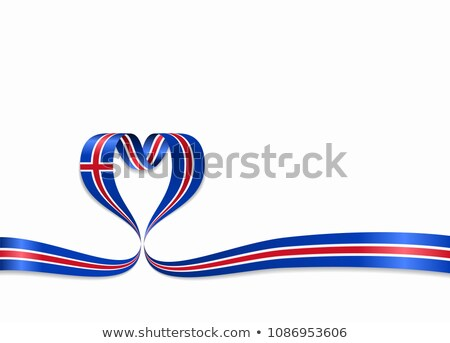 National flag of the Iceland in the shape of a heart and the inscription I love Iceland. Vector illu Stock photo © butenkow