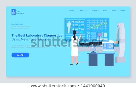 Computer diagnose patiënt mri tech vector Stockfoto © robuart