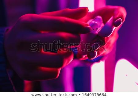 女性 ポーズ ネオン ライト ワイヤレス ストックフォト © deandrobot
