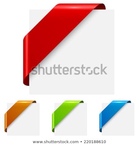 Rojo blanco colorido esquina cinta pueden Foto stock © orson