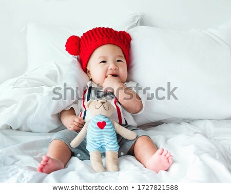 Nursery doll in blue suit Stock photo © RuslanOmega