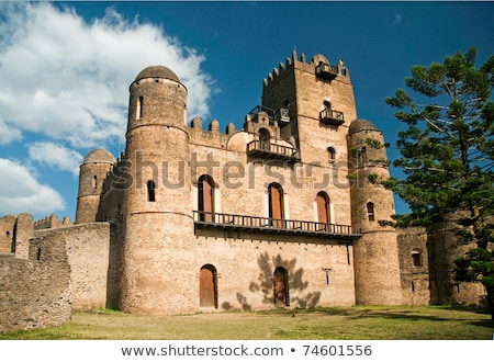 gonder gondar ethiopia royal ethiopian kings castle Stock photo © travelphotography