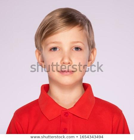 Portrait of cute  blond schoolboy over white background Stock photo © zurijeta