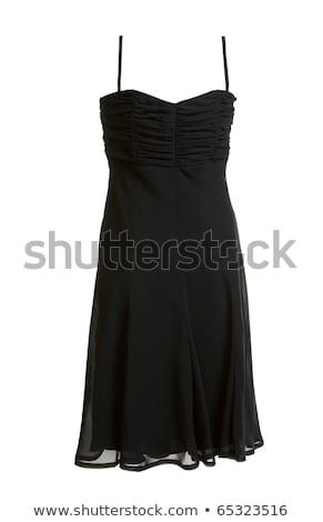 black evening satin gown stock photo © ruslanomega