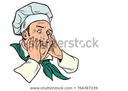 Portrait Of A Scared Chef Stock fotó © studiostoks