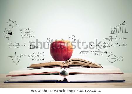 зеленый · яблоко · обучения - Сток-фото © devon
