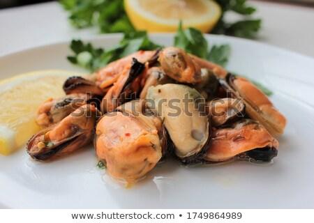 mussel with lemon and parsley Stock photo © Antonio-S