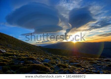 красивой · ярко · закат · небесный · облака · весны - Сток-фото © elenarts
