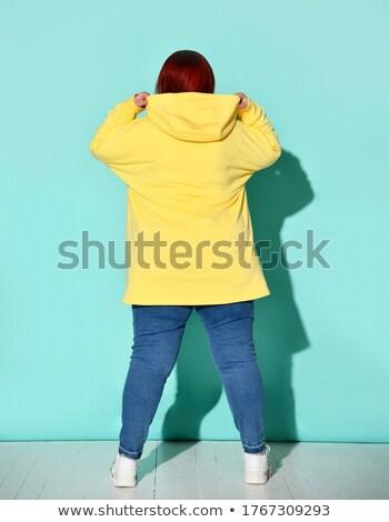 Kéjes hát klasszikus kép női hajlatok Stock fotó © dolgachov