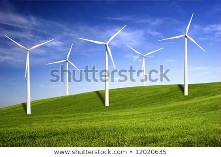 électricité · blanche · éolienne · mer · industrie - photo stock © hasloo