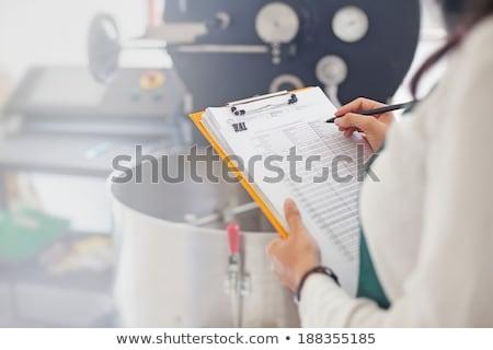 Test ürün kadın gözlük bilim işçi Stok fotoğraf © photography33