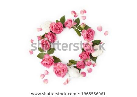 wreath of hearts and roses stock photo © marinini