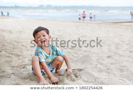 мальчика морем вектора Летние каникулы воды рыбы Сток-фото © Galyna