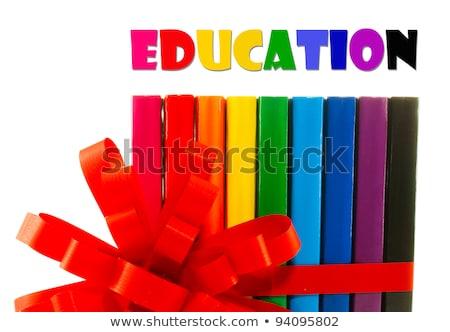 красочный книгах вверх лента книга Сток-фото © AndreyKr