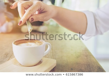 Сток-фото: кофе · сахар · два · пить