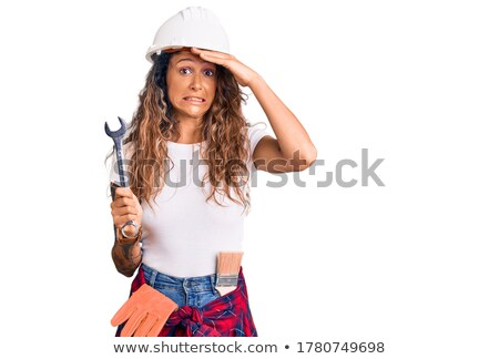 Frustrated female builder Stock photo © photography33