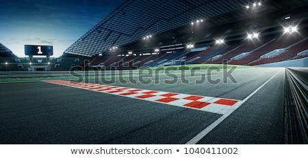 Yarış pisti yarış at boş izlemek yarış Stok fotoğraf © Sportlibrary